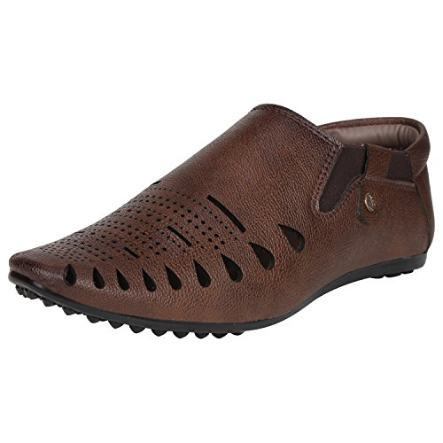 Kraasa 6017 Casual Men's Sandals Coffee UK 8