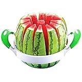 TradeShopTraesio - Taglia Melone Anguria Cocomero AFFETTA 12 Lame 22CM in Acciaio CASA Cucina