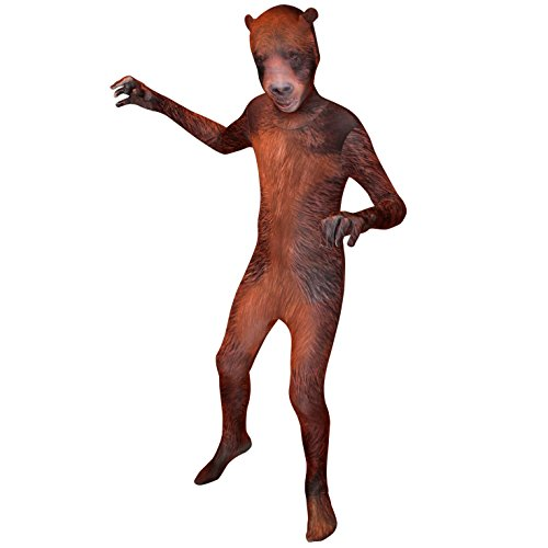 KIDS MORPHSUIT HALOWEEN FANCY DRESS COSTUME BOYS GIRLS CHILDS MORPHSUIT (3ft 4ins - 3ft 10ins Age 6 - 8, Grizzly Bear Childs ()