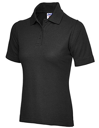 Ladies Pique Polo Shirt Size UK 8 to 26 Plus All Colours NEW Casual Sports Gym Work Test