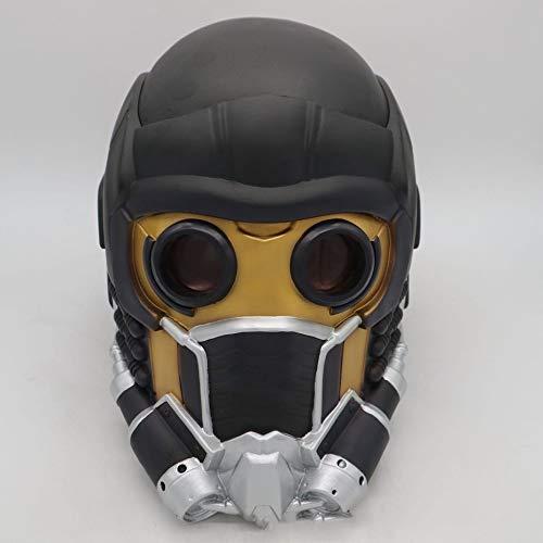 Lord Star Maske Kostüm - Panamami Halloween Maske 2018 Galaxy Guard Star Lord Star Maske Cosplay Maske Gruselige Maske Cosplay Maske für Festival Musik Party Kostüm-Schwarz + Gelb