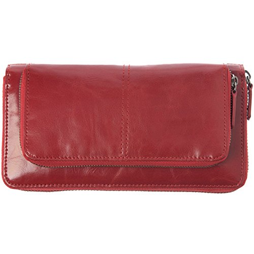 Shiraleah Harper Zip Wallet, Pomegranate