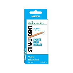 Natural Dentist Stim-U-Dent Thin Plaque Removers, 160 Count
