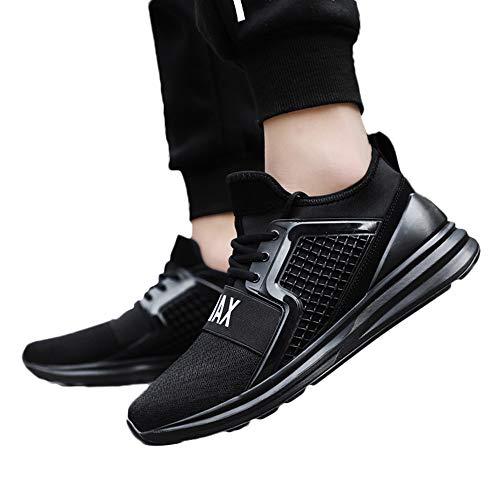 JiaMeng Zapatillas Deportivas para Correr Usar Zapatillas de Deporte de Color sólido para Hombres Atlético Moda Casual Al Aire Libre Corriendo Respirable Deportes Zapatos