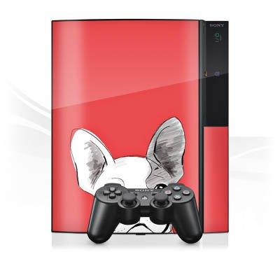 Sony Playstation 3 3 Design Skin Folie Aufkleber einseitig - The French Bulldog -