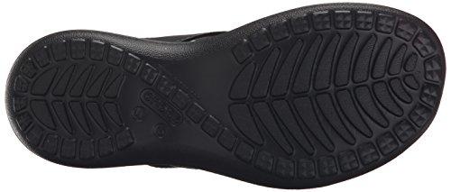 Crocs Capri V Flip, Chaussons Mules - Femme Noir (Black/Graphite)