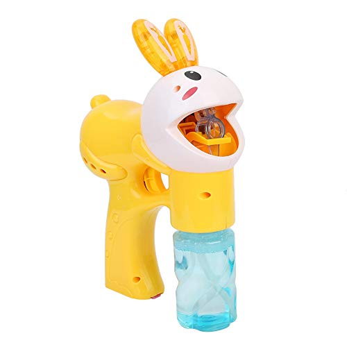 hine Elektrische Bubble Gun Rabbit Shape Automatische Bubbles Machine mit Sound & Musik für den Innen- oder Außenbereich(Gelb) ()