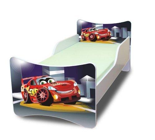 Best For Kids KINDERBETT mit Schaummatratze mit TÜV ZERTIFIZIERT 90x200 30 DESIGNS (Cars III)