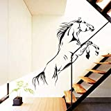 Zbzmm Wallsticker Home Bedroom Hot Sale Jumping Horse Wall Stickers Decals Home Decor for Living Room Wall Decoration Quote Sticker Wallpaper