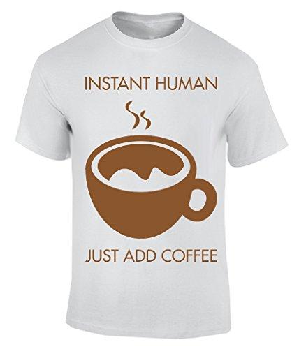Instant human add coffee T-Shirt Herren Weiß