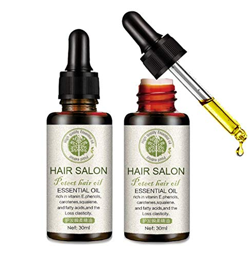 Hair ReGrowth Serum ORCCAC, Hair Salon Essential Oil Reparieren Sie geschädigtes Haar und pflegen Sie die Kopfhaut, für dünner werdendes Haar, Verdickung, Nachwachsen (2pcs)