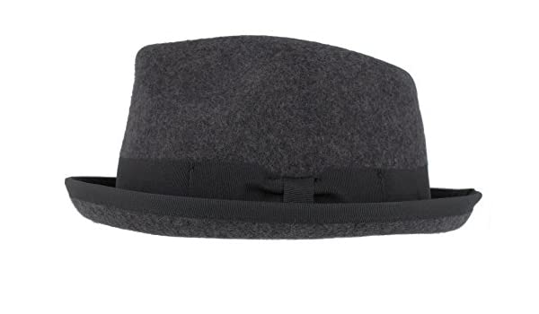 1642331e82cb9 Christys Wool Conwy Pork Pie Trilby in Grey (CSK100370) (Small):  Amazon.co.uk: Clothing