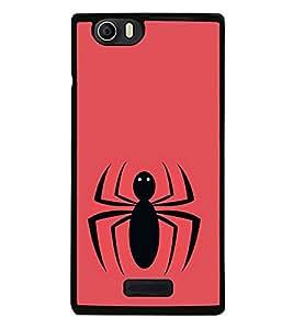 Vizagbeats Black Spider Back Case Cover for MICROMAX NITRO 2 E311