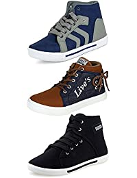 Ethics Combo Pack of 3 Sneaker Shoes for Men