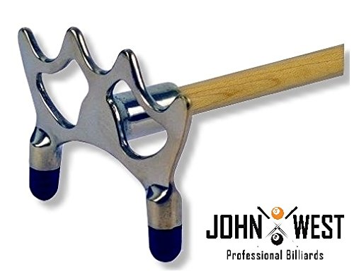 John West Billard Queuebrücke Chrom Flach
