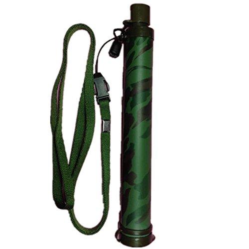 QINAIDI Persönlicher Wasserfilter, Überlebens-Gang-Wasser-Reinigungsapparat-Stroh Für Das Wandern,