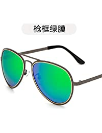 Burenqiq Gafas de Sol Retro Gafas de Sol polarizadas de Moda Gafas de Sol Metalizadas para