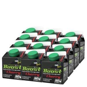 NOVOX Liquid Protein Boost-Aufkonzentriertes Eiklarprotein, Laktosefrei, Glutenfrei, Fettfrei, 60 Gramm Eiweiß, 10,4 Gramm BCAA (12 x 300 Ml Kirsche)