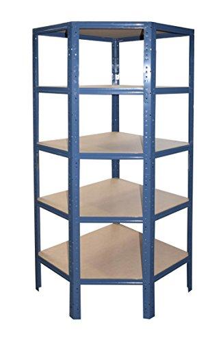 Eckregal für unsere 60 Tiefen in blau Steckregal Kellerregal Lagerregal Metallregal Schwerlastregal...