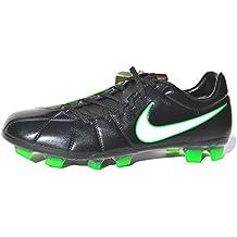 Nike - Botines de Fútbol Total 90 Lase Elite para Hombres - Para Terrenos Firmes - Color Negro / Blanco / Verde eléctrico - Negro / Blanco / Verde eléctrico, 7 UK / 41 EU / 8 US