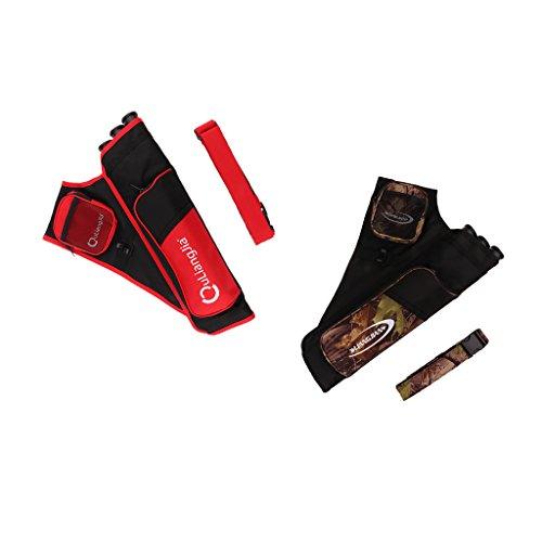 Gazechimp 3-Röhrenköcher Rückenköcher Bogenschießen Sport Tarnfarbe