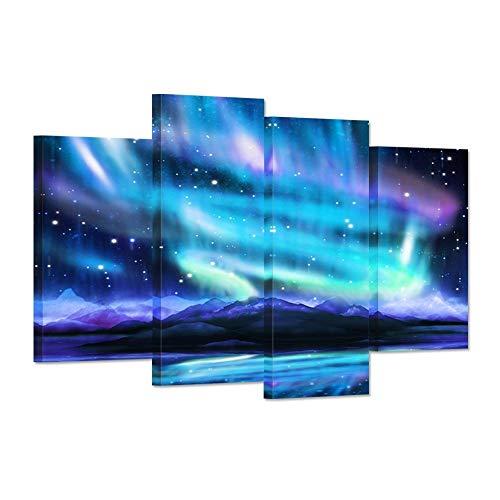 Impresiones lienzos Arte pared Azul Aurora boreal