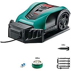 Tondeuse robot intelligente Bosch - Indego350 (largeur de coupe de 19cm,surface de tonte 350m², avec accessoires)