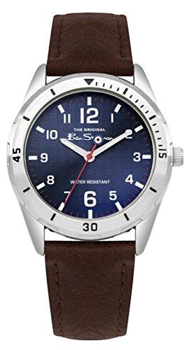 Ben Sherman Jungen Analog Quarz Uhr mit PU Armband BSK002UBR G