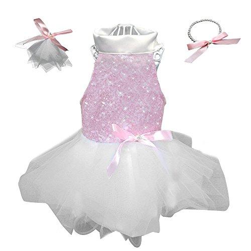 Berry Gorgeous Pet Kleider Röcke für Welpen kleine Hunde und Katzen, perfekt Prinzessin outqits für Hochzeit Urlaub birthiday Party (Gorgeous Kleider Party)