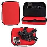 Navitech - Rosso Custodia per videocamere d'azione Compatibile con Rollei Actioncam 560 Touch