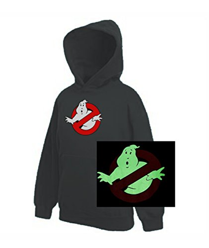 KIDS Ghostbusters GLOW in the DARK Classic Movie Hoodie - Ages 5 to 15 yrs