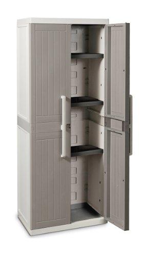 Toomax-Z256R025-Armadio-Wood-Line-S-Tuttopiani-65X37X165-GrigioTortora