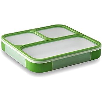 LeOx- Slim Lunchbox drei Fächer Lunchbox Bento Box mit