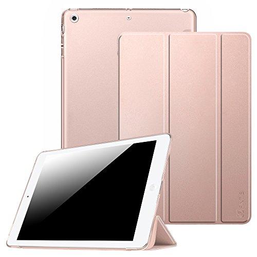 Coque iPad Air - Fintie Ultra Slim Smart Case étui Housse Cover Support Léger avec Auto Réveil / Veille pour Apple iPad Air, or Rose
