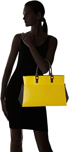 Madame Folie - Trapèze, Borsa a spalla Unisex - Adulto Yellow / Black