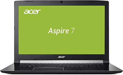 Acer Aspire 7 A717-71G-58R1 43,9 cm (17,3 Zoll Full-HD IPS matt) Multimedia/Gaming Notebook (Intel Core i5-7300HQ, 8GB RAM, 256GB PCIe SSD, 1.000GB HDD, NVIDIA GeForce GTX 1050Ti 4GB VRAM, Win 10) schwarz (Win 7 Laptop I5)