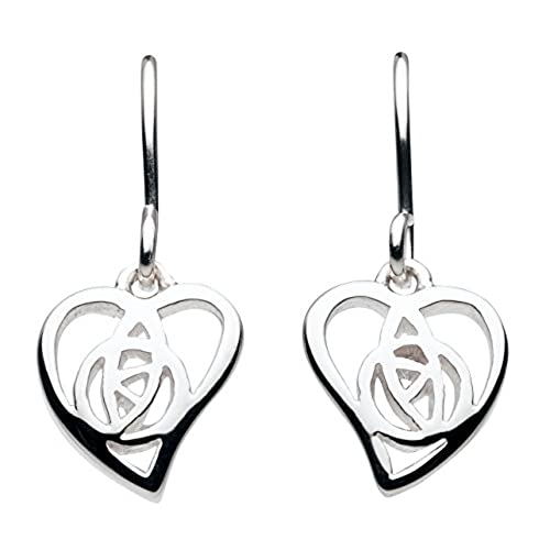 Heritage Womens Sterling Silver Mackintosh Open Rose And Bar Stud Earrings 61H0HP 2Lff3o