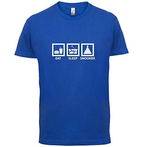 Eat Sleep Snooker - Herren T-Shirt - 13 Farben Royalblau