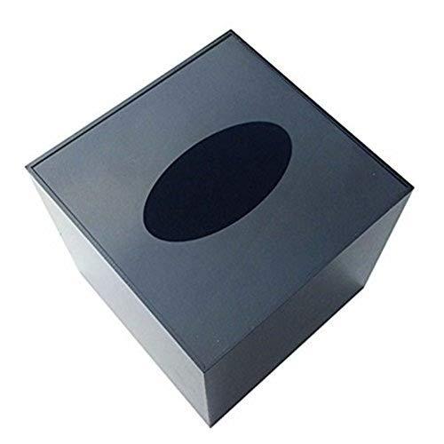 JINQD Spionagekameras, Super Hidden Monitoring Tissue Box, elektronische Uhrenbox, Geeignet für Minikamera und Small Motion Camera (Keine Cemares im Paket) (Color : Black)