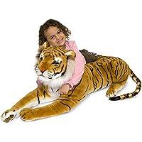 Melissa & Doug Giant Tiger - Lifelike Stuffed Animal (over 1 meter long)