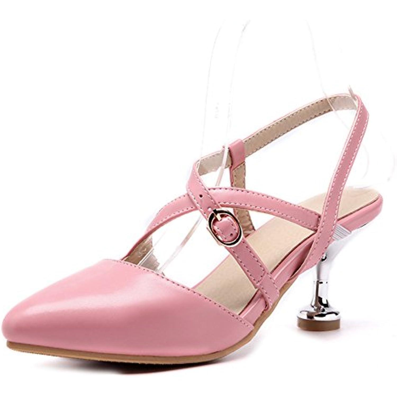 Aisun Femme Sexy Kitten-Heel Boucles Cross Basse Fille - Bal Escarpins - Fille B07CF7QVBR - a91707