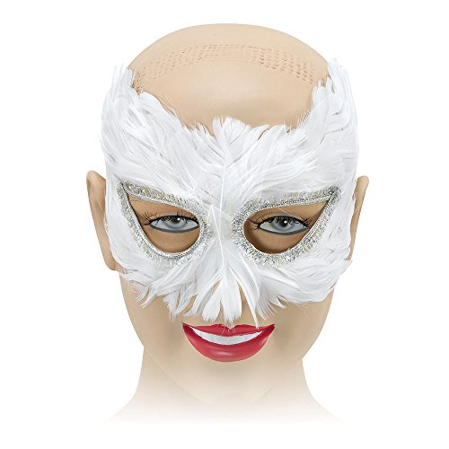 Weiße Feder Maske - Bristol Novelty EM042 Feder Augenmaske, Weiß,