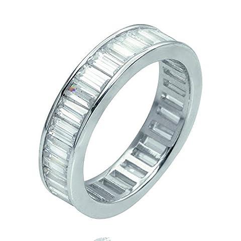 BuyFineDiamonds Platine 950/1000 Platine (Le) Baguette f Diamant