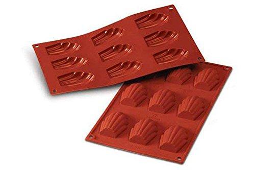 silikomart 20.032.00.0060 Stampi, Silicone, Rosso, 30x17.5x1.7 cm