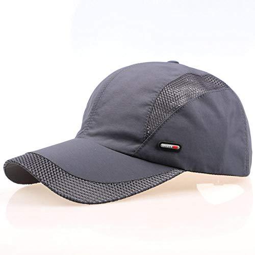 shunlidas Hüte Dekorationen Fischerhutherren-Baseballmütze Spring Summer Hat Atmungsaktive Outdoor-Freizeit Sonnenschirm @ Dark Grey_Adjustable