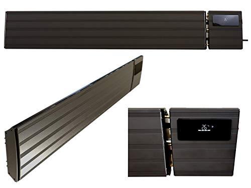 Komerci THG-20DS Infrarot Heizstrahler 2000W IP44 Dunkelstrahler Heizung Aussen Innen Schwarz