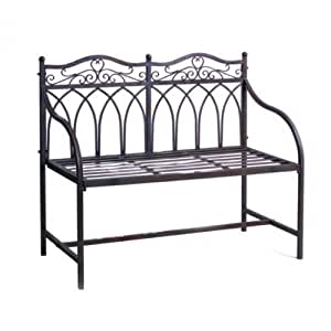 gartenbank metall 2 sitzer metallbank sitzbank bank eisenbank. Black Bedroom Furniture Sets. Home Design Ideas