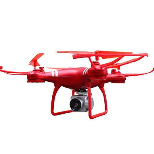 KY101 RC Quadcopter Helicopter Selfie Drone with 1080p 2MP WiFi FPV HD Camera One Key Fly Return Remote Control Without Battery (Red)