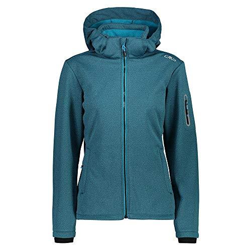 CMP Woman Jacket Zip Hood türkis - 46