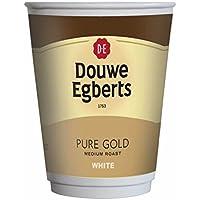 Douwe Egberts Pure oro Color blanco taza de café, con Tapa en Fresh Seal bebidas [funda de 10tazas]